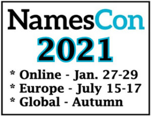 NamesCon Announces 3 Shows for 2021  After Online Event In January