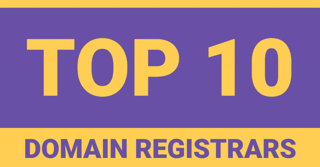Top .com domain name registrars