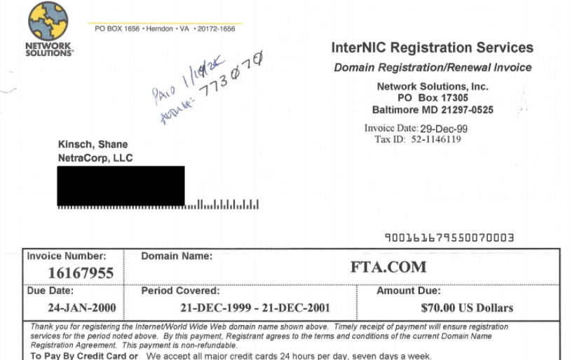 FTA.com domain name sells for $400,000